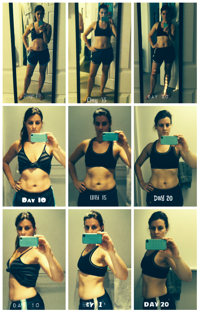 Plank Challenge Before And After 30 day shred – level 3 – final before & after – a modern ...