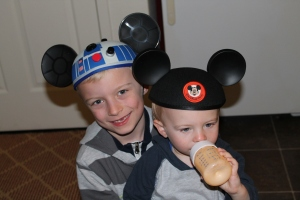 Mickey hats were a must :)